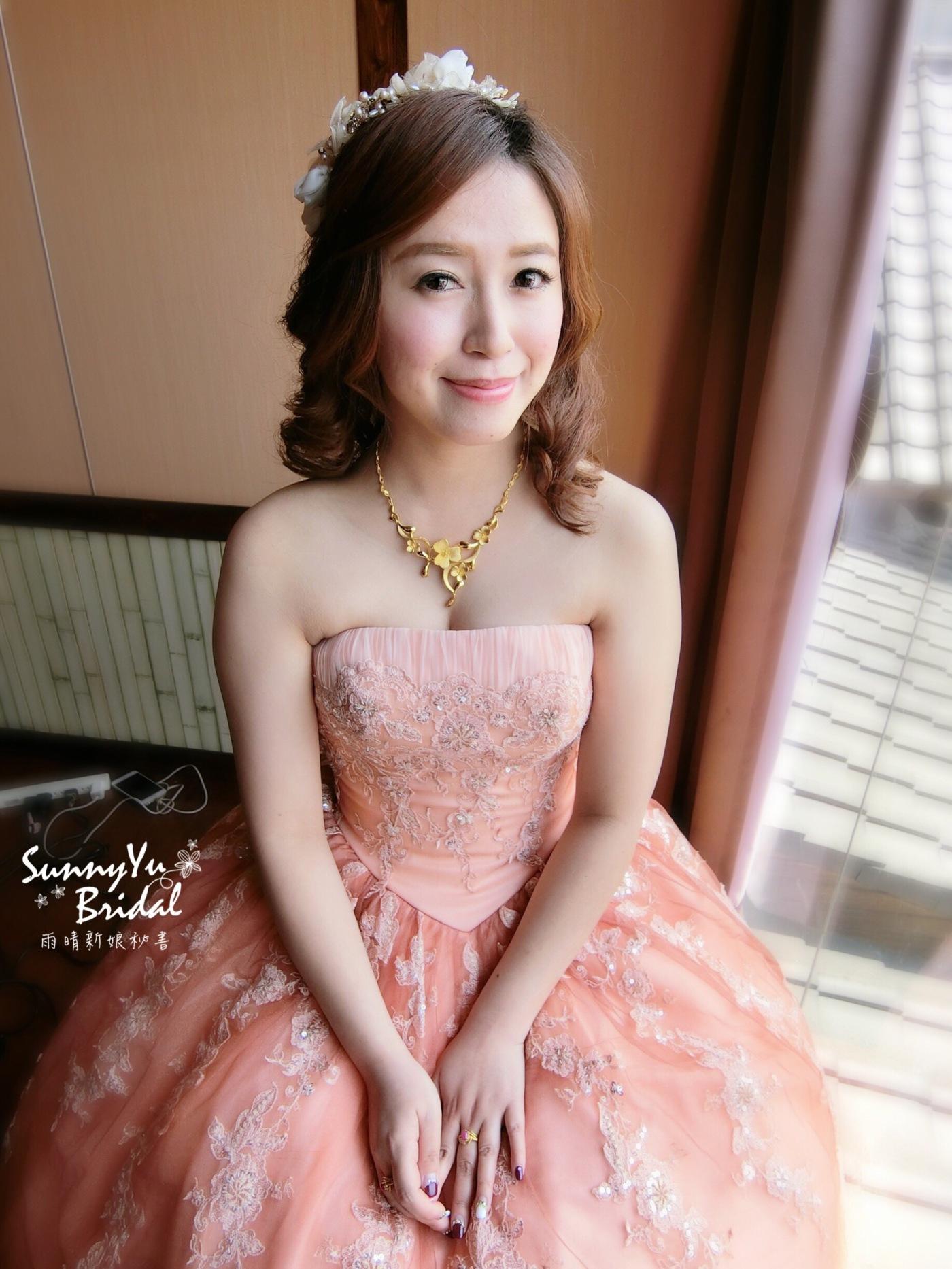短髮新娘|編髮造型|新娘秘書雨晴|嘉義新娘秘書推薦|雲林新秘