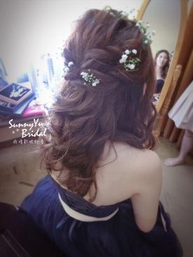 鮮花造型 新娘髮型 晚禮服 公主頭 編髮造型 台北新秘雨晴 內湖新秘雨晴