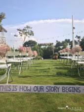 嘉義戶外證婚推薦|戶外證婚|西式婚禮|西式證婚|木頭拱門|木頭花藝拱門|憶起幸福|