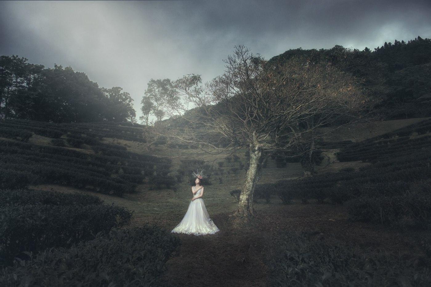 婚紗造型|新娘妝容|花頭飾|白紗|台北新秘|新秘雨晴|嗨攝影|EASTERN WEDDING
