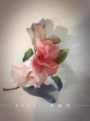 手染花|新娘飾品|新娘花耳環|花圈|花環|手作|Angel手染花