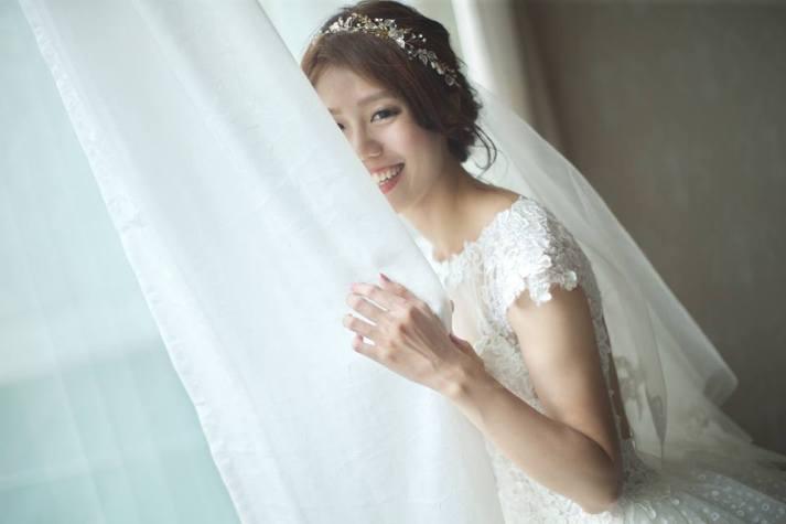 嘉義新娘秘書推薦|新娘秘書雨晴|白紗造型|新娘髮型|鈺通飯店|愛依賴婚禮攝影
