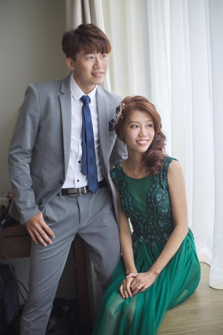 新娘側邊名媛髮型|嘉義新秘推薦|新娘秘書雨晴SunnyYu|愛依賴婚禮攝影|鈺通飯店|