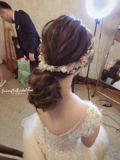 乾燥花造型 新娘髮型 新娘低馬尾造型 新秘推薦雨晴