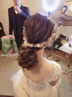 新娘低馬尾造型|中長髮新娘造型|新娘秘書推薦雨晴