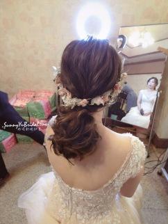 新娘乾燥花造型 新娘秘書推薦雨晴