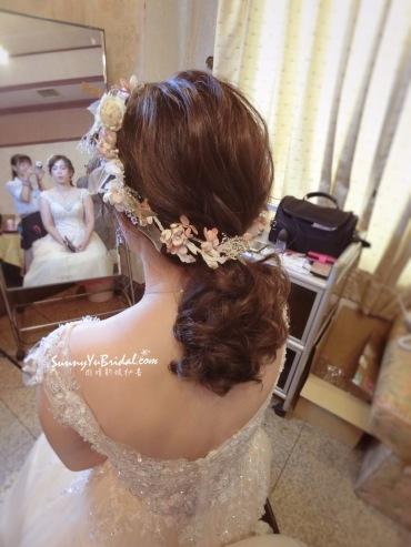新娘造型 低馬尾髮型 乾燥花造型 線條感髮型 新娘秘書推薦雨晴