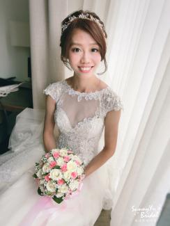 嘉義新娘秘書推薦|新娘秘書雨晴|白紗造型|新娘妝感|鈺通飯店|愛依賴婚禮攝影