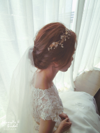 嘉義新娘秘書推薦雨晴|新娘秘書雨晴|白紗造型|新娘髮型|鈺通飯店|