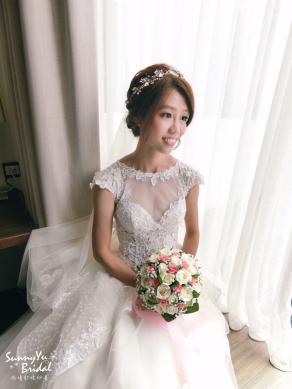 嘉義新娘秘書推薦|新娘秘書雨晴SunnyYu|白紗造型|新娘髮型|鈺通飯店|