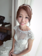 嘉義新娘秘書推薦|新娘秘書雨晴|白紗造型|新娘髮型|鈺通飯店|