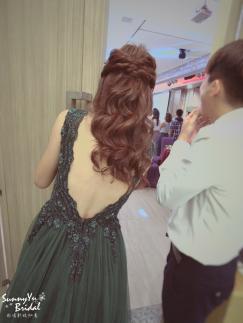 新娘整體造型|新娘髮型|公主頭|離子夾波紋捲|嘉義新秘推薦雨晴|