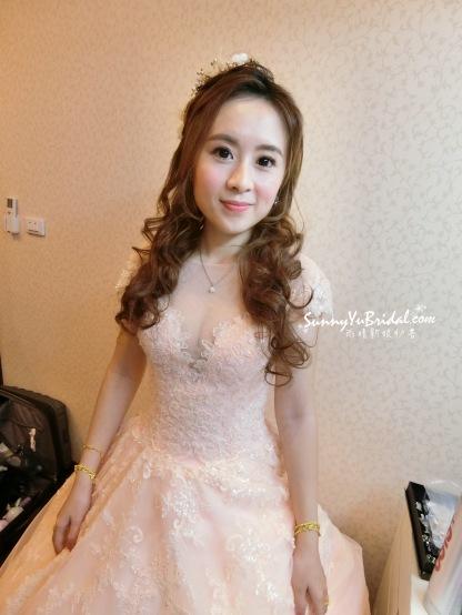 甜美感|編髮|公主頭|新娘造型|線條感髮型|台北新娘秘書推薦雨晴