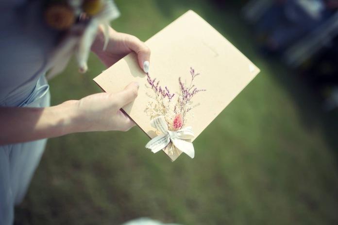 乾燥花卡片 手作卡片 卡片製作 乾燥花 乾燥花新秘推薦雨晴 戶外證婚 交換誓詞 乾燥花誓詞本