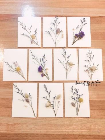 乾燥花卡片|手作卡片|卡片製作|乾燥花|乾燥花新秘推薦雨晴
