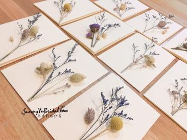 乾燥花卡片|手作卡片|卡片製作|乾燥花|乾燥花新秘推薦雨晴|台北乾燥花新秘