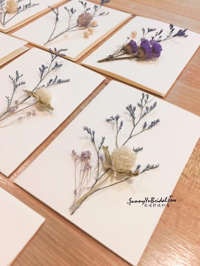 乾燥花卡片 手作卡片 卡片製作 乾燥花 乾燥花新秘推薦雨晴