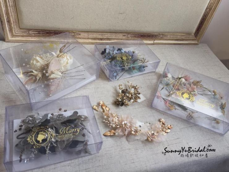 魅麗新娘飾品|台北新秘推薦|新秘雨晴|乾燥花髮飾