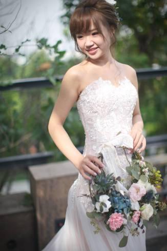 妹妹頭新娘造型