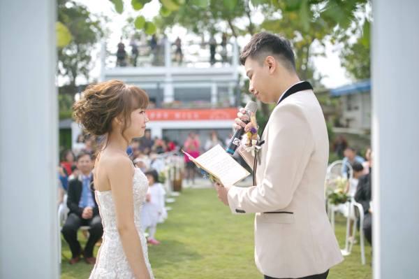 幸福山丘|戶外證婚|憶起幸福|證婚交換誓詞|新秘雨晴的婚禮