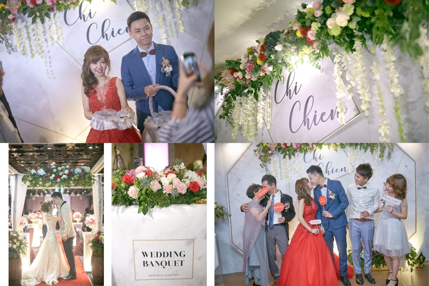 嘉義婚禮佈置推薦|憶起幸福|嘉義婚禮佈置評價|大理石幾何婚禮背板|花藝設計