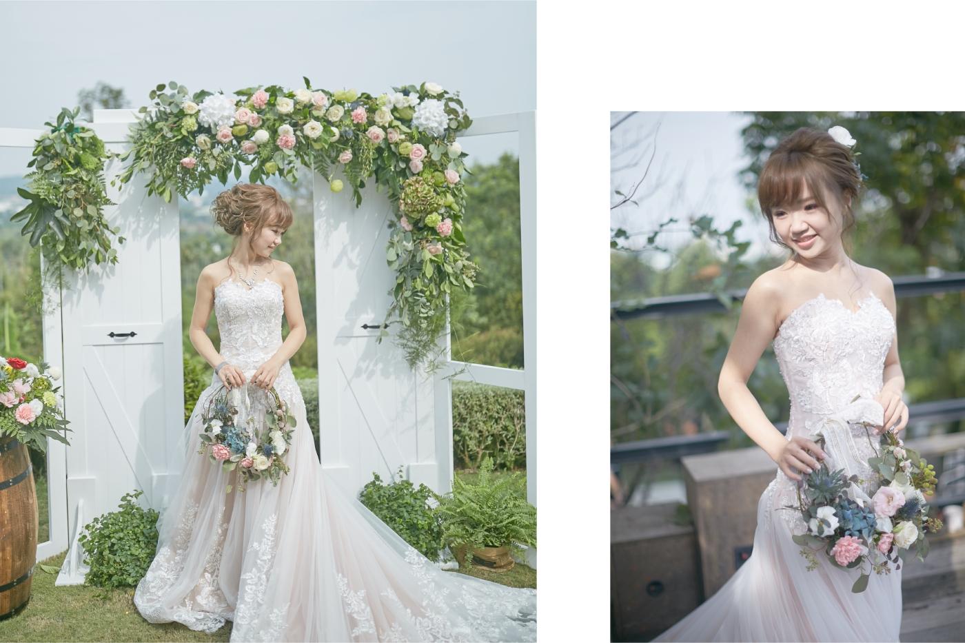 歐美手提花環|新娘捧花|捧花訂製訂購|新娘手提花圈|嘉義婚禮佈置推薦|憶起幸福