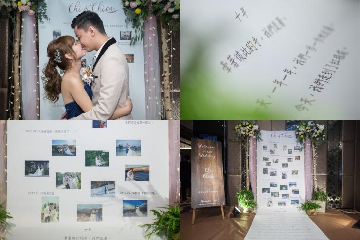 嘉義婚禮佈置推薦|憶起幸福|嘉義婚禮佈置評價|婚禮背板|花藝設計|婚禮相片回憶牆
