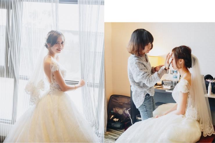 台北新秘推薦|新娘秘書雨晴|婚禮攝影平面紀錄|七囍|GTpeng|時間安排|結婚流程|妝髮準備|