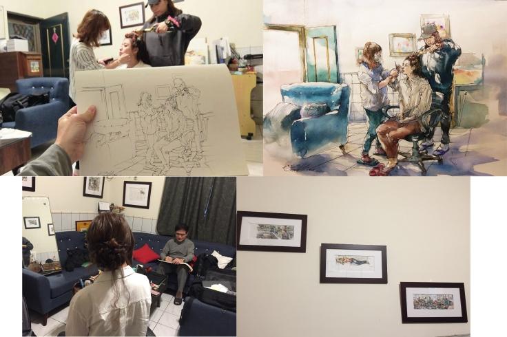 寫實派畫家|手繪|繪圖手稿|新秘工作實況|新娘秘書雨晴|台北內湖南港新娘秘書推薦|新娘梳畫