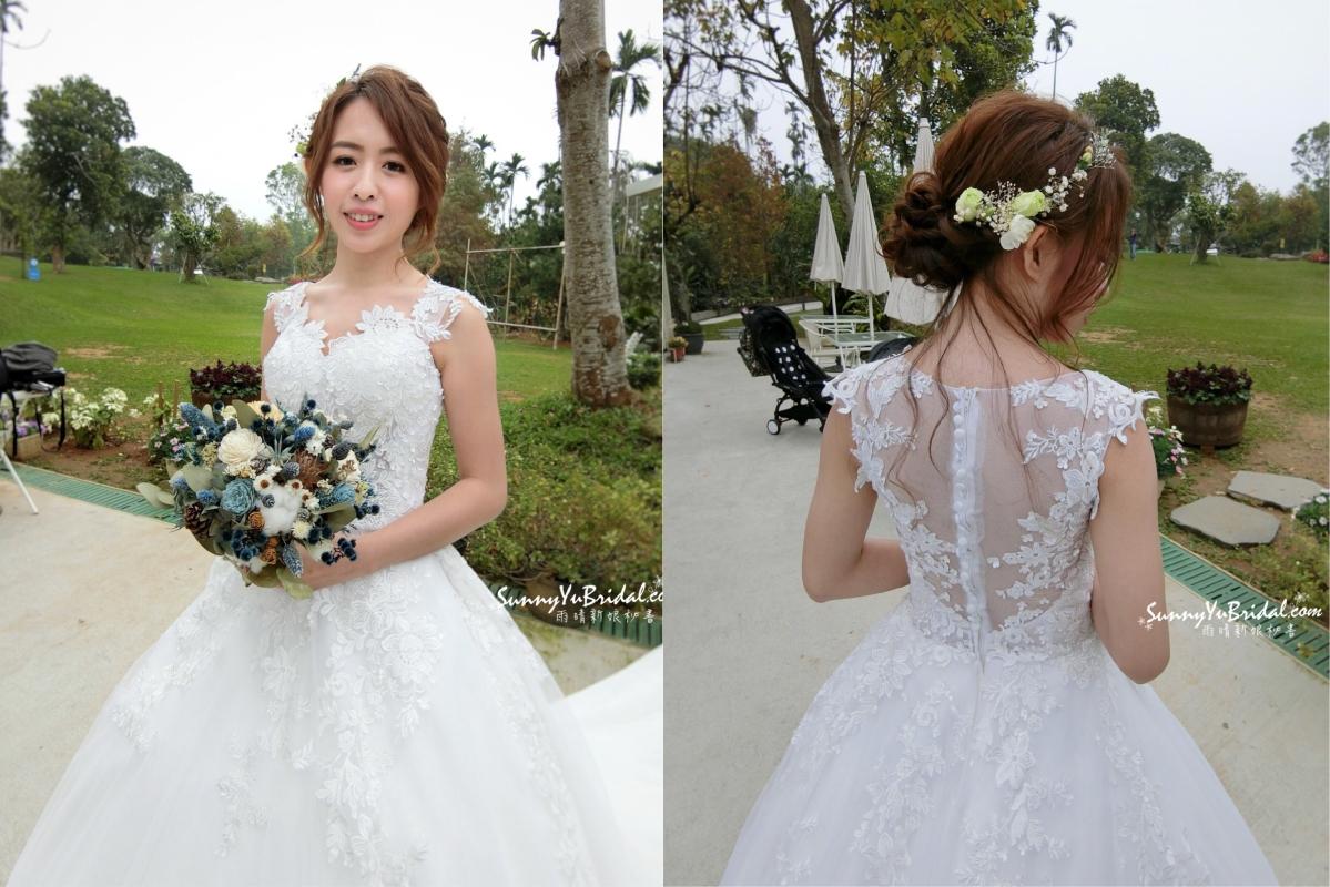 女孩兒夢想的戶外證婚,證婚新娘妝感造型X清新感的鮮花花環真的好美!幸福山丘[台北新娘秘書雨晴SunnyYu]明哲+似璇文定