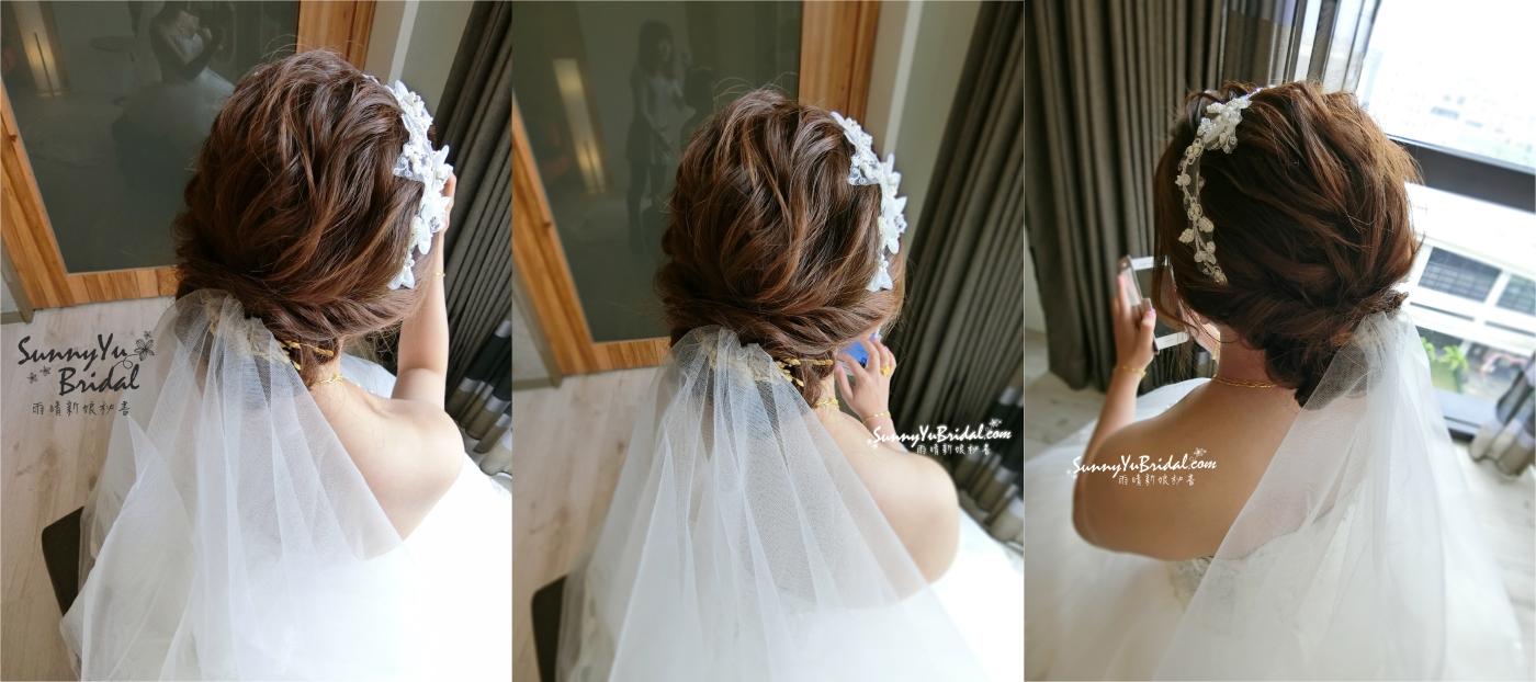 台北新秘推薦│新娘秘書|新秘雨晴│新秘推薦│新娘秘書推薦|新娘造型│低盤髮造型|編髮造型│白紗禮服|新娘結婚造型|篷鬆線條髮型