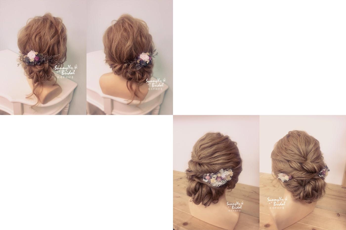 盤髮造型1