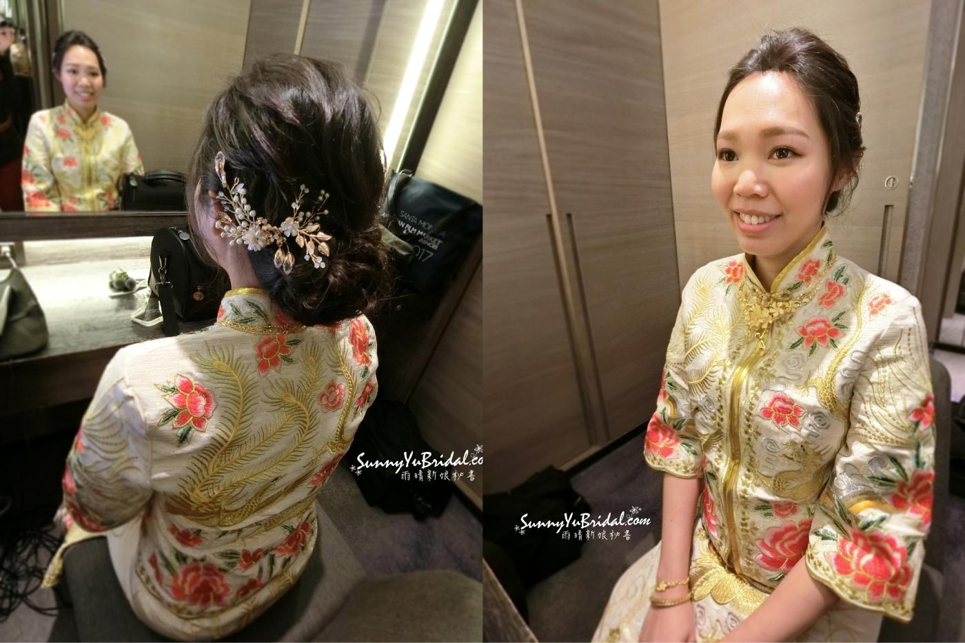 新娘盤髮造型|中式禮服|新娘造型|寒舍艾麗|台北新秘推薦|新娘秘書推薦雨晴|
