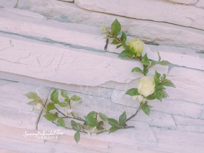 台北自助婚紗|台北新秘推薦|台北新娘秘書|新娘秘書雨晴|森林系新娘造型|鮮花花環髮型|馬尾造型|清新感花圈|