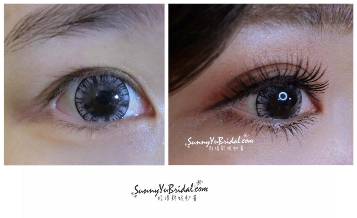 新娘妝容|新娘精緻眼妝|眼型調整|清透乾淨眼妝|根根分明睫毛|仿真下睫毛|眼妝前後比對|內雙眼妝