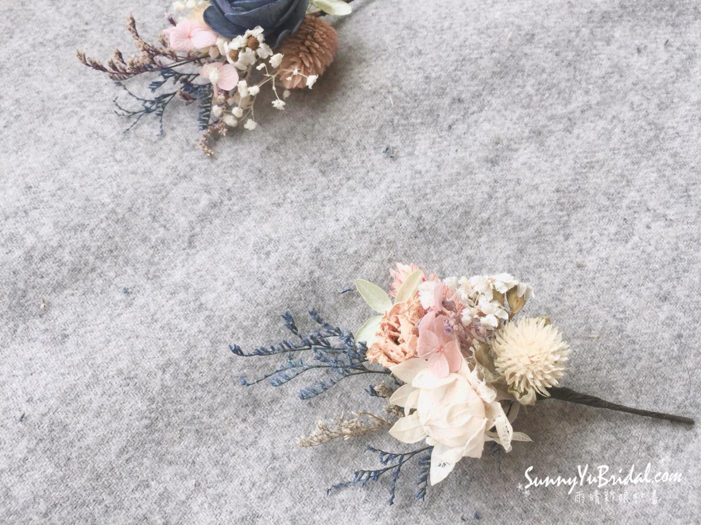 客製乾燥花飾|客製新娘飾品|台北新娘秘書|台北內湖南港新秘推薦雨晴|手作新娘飾品|雨晴手作|乾燥不凋花新娘飾品|乾燥花新娘造型|雨晴手作乾燥花飾|煙燻粉玫瑰|不凋花|永生花|白紗髮飾|白紗造型|客製手作乾燥花髮叉