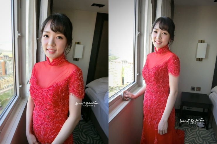 文定妝髮|台北新娘秘書|新秘推薦|新秘雨晴|林莉婚紗|君悅酒店|紅色禮服|新娘造型