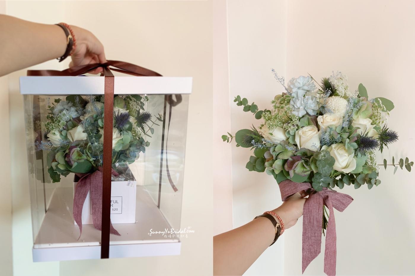 新娘捧花|新郎胸花|捧花訂製|鮮花捧花|台北新娘秘書推薦雨晴|手綁捧花|乾燥花客製捧花|玫瑰花康乃馨薊花尤加利葉