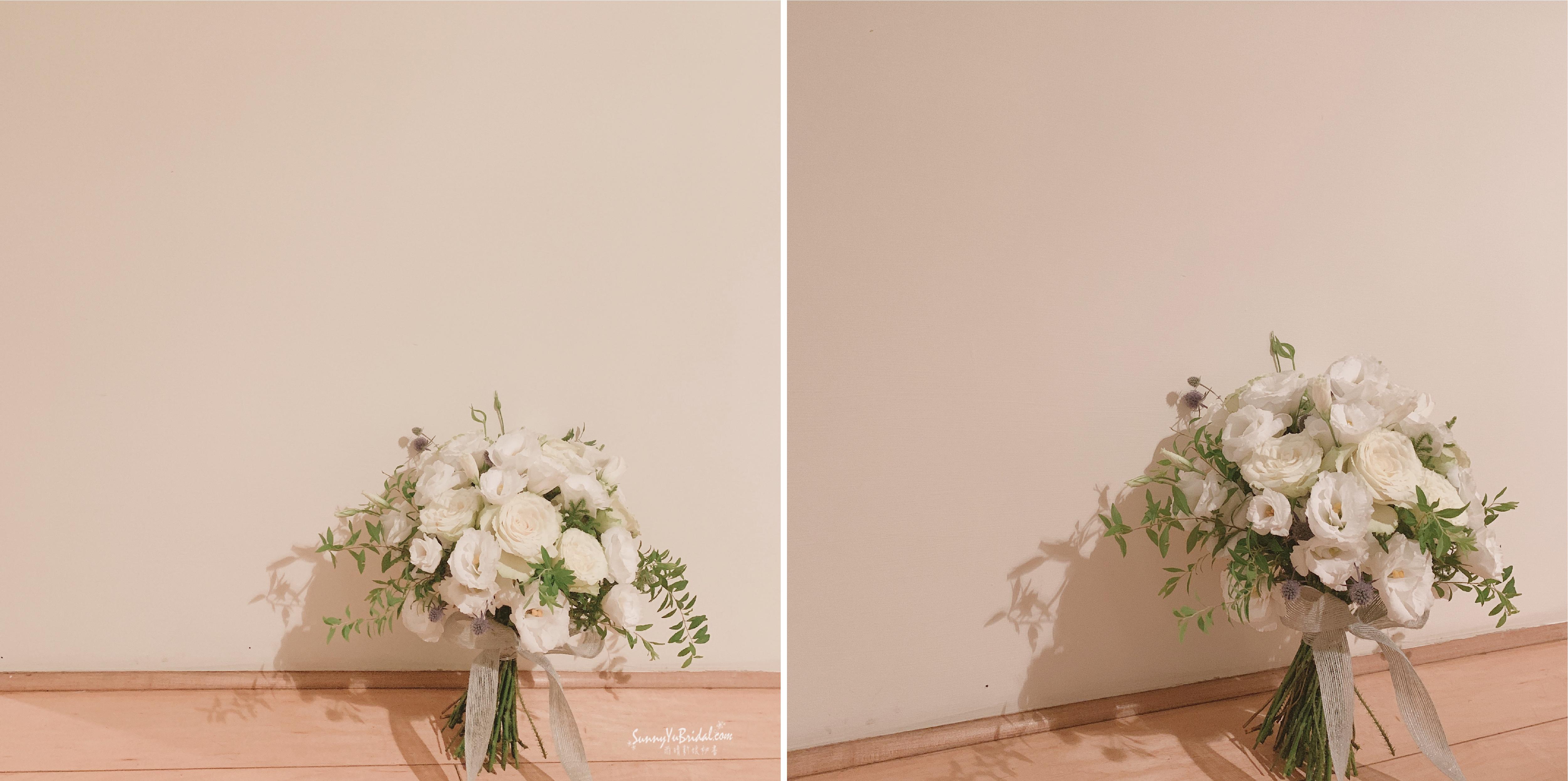 新娘捧花|新郎胸花|捧花訂製|鮮花捧花|台北新娘秘書推薦雨晴|台北南港內湖新秘推薦|手綁捧花|乾燥花|客製捧花|乾燥花胸花|自然系捧花|奔放捧花|玫瑰花桔梗尤加利葉薊花|白綠色捧花