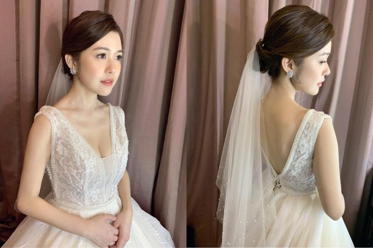 ▲新娘(長瀏海),呈現乾淨俐落感。